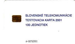 Slovaquie, Slovak Telecom Test Chip Card 2001, 100 Units - Slovaquie