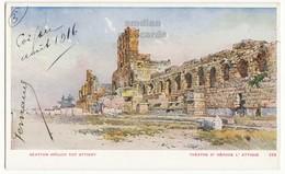 GREECE ATHENS, HERODES ATTICUS THEATRE RUINS, C1916 Vintage Illustrated Postcard - Aspiotis Publisher - Greece