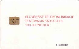 Slovaquie, Slovak Telecom Test Chip Card 2002, 100 Units - Slovaquie