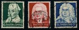 3. REICH 1935 Nr 573-575 Zentrisch Gestempelt X86101E - Germany