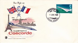 Env 1er Vol Concorde 002 Filton Bristol 09/0469 - Storia Postale