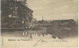 Souvenir De TIRLEMONT : Le Parc St-Georges- Cachet De La Poste 1904 - Tienen