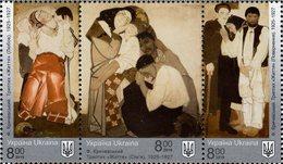 Ukraine - 2019 - National Art Museum - Fedir Krychevsky - Mint Stamp Set (se-tenant Strip) - Ukraine