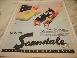 ANCIENNE PUBLICITE TOUTE LA GAMME GAINE SCANDALE 1955 - Habits & Linge D'époque
