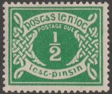 ~~~ Ierland Ireland 1925 - Postage Due WM SE - Mi. 1 * MH - Cat. 120 Euro (for **)  ~~~ - Strafport