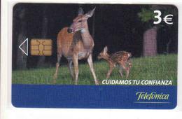 Spain Chip Fauna Telefonica, Tirage  11 500 - Espagne