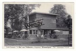 Wommelgem (café-crèmerie 't Hof Van Volkaerts - Krijgsbaan - Originele Foto) - Wommelgem