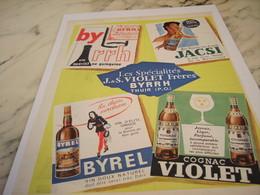 ANCIENNE PUBLICITE LES SPECIALITE VIOLET FRERE 1958 - Alcools