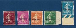 """Andorre YT 7 à 10 13 """" Semeuse Camée """" 1931 Neuf* - Andorre Français"""