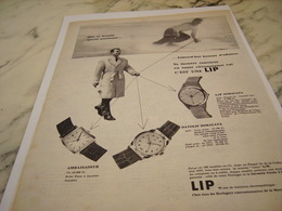 ANCIENNE PUBLICITE SPOTIF PASSIONNE MONTRE LIP 1958 - Joyas & Relojería