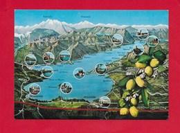 CARTOLINA NV ITALIA - Lago Di GARDA - Cartina - 10 X 15 - Non Classificati