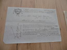 Connaissement S. Möller Et Cie  Bordeaux à Saint-Pétersbourg 1864 - Verkehr & Transport