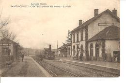LOIRE SAINT BONNET LE CHATEAU  LA GARE ARRIVEE DU TRAIN NON ECRITE - France