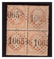 Bloc De 4 Du N° 23 Obl. - 1862 Napoléon III