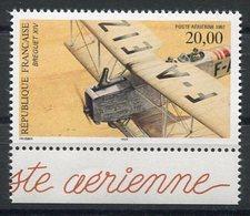RC 12899 FRANCE PA N° 61a BIPLAN BREGUET XIV PROVENANT DU FEUILLET NEUF ** TB - Luchtpost