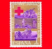 Nuovo - MNH - SPAGNA - 1963 - Croce Rossa - Red Cross - Primo Centenario Della Fondazione - 1 - 1961-70 Nuovi