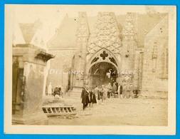 Finistère * Pont-Croix église Notre Dame De Roscudon - Photo Vers 1910 - Places