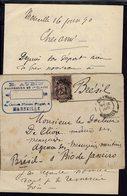 """Fr - 1890 """"E. Aubin Pharmacien De 1ère Classe Marseille"""" Sage 25 Ct Sur Enveloppe Pour Rio De Janeiro + Lettre - B/TB - - Marcofilia (sobres)"""