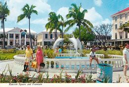 1 AK Bahamas Nassau * Rawson Square And Fountain With Post Office And Government Buildings * - Bahamas