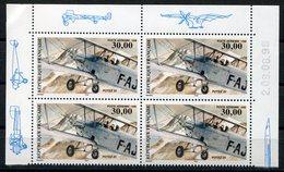 RC 12901 FRANCE PA N° 62a BIPLAN POTEZ 25 PROVENANT DU FEUILLET BLOC DE 4 NEUF ** TB - Poste Aérienne