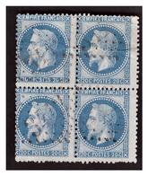 Bloc De 4 Du N° 29A Obl. - 1863-1870 Napoleon III With Laurels