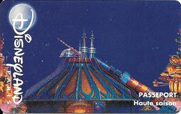 PASS-DISNEYLANDPARIS -1996-SPACE MOUNTAIN-ADULTE-V° N° S 039609 HORIZONTAL En HAUT-VALIDE 1 JOUR-TBE- - Toegangsticket Disney