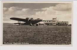 Vintage Rppc KLM K.L.M. Fokker F-36 @ Vliegveld Welschap Eindhoven Airport - 1919-1938: Between Wars