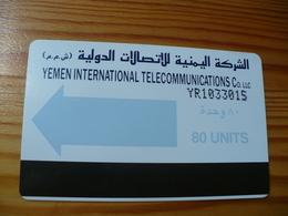 Phonecard Yemen - Magnetic - Yemen