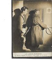 Guerre-1940-FORTIFICATIONS-Une Vue Animée De Militaires Ouvrant La Porte D'Entrée D'un BLOC De La Ligne MAGINOT - Autres