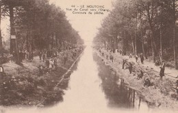 CPA 35 LE MOUTCHIC CONCOURS DE PECHE SUR LE CANAL - Pesca