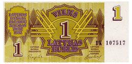 LATVIA 1 RUBLIS 1992 Pick 35 Unc - Letland