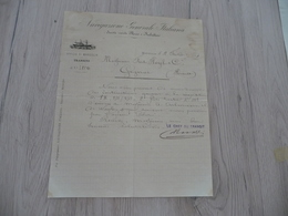 Commerce Maritime Lettre à En Tête  Italie Italia  Navigazione Generale Florio Marseille 1884 - Transport