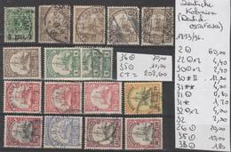 TIMBRES D ALLEMAGNE ( DEUTSCH-OSTAFRIKA )NEUF**/* - OBLITEREES 1893/96Nr VOIR SUR PAPIER AVEC TIMBRES  COTE 202.60  € - Alemania