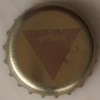 CHAPA DE CERVEZA AMBAR CAESARAUGUSTA - Cerveza