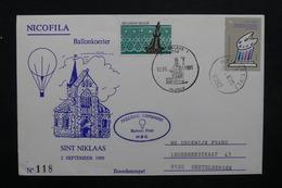 BELGIQUE - Enveloppe Par Ballon En 1989,  Voir Cachets - L 31855 - Belgium