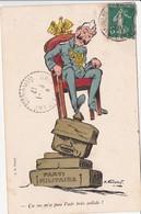 CPA Guerre 14 Caricature Satirique Kaïser Anti-Guillaume II Illustrateur  A. GOURNAY (2 Scans) - Patriotiques