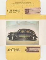 FULL SPEED VIRGINIA Nr 97, Lancia 1939 - Cigarette Cards