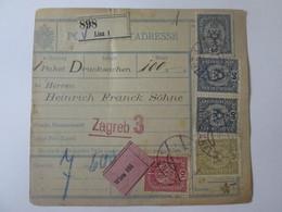 Austria Post Begleitadresse/Postal Accompanying Address From 1919,sent To Zagreb(Croatia) - Briefe U. Dokumente