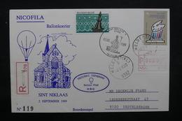 BELGIQUE - Enveloppe Par Ballon En 1989 ,  Voir Cachets - L 31859 - Belgium