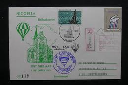 BELGIQUE - Enveloppe Par Ballon En 1989 ,  Voir Cachets - L 31860 - Belgium