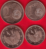 Andorra Euro Set (2 Coins): 1 + 2 Cents 2018 UNC - Andorre
