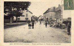 DPT 03 ETROUSSAT Place Publique Et Route De Barberier - Other Municipalities