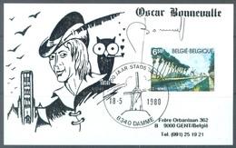 BELGIUM - 18.5.1980 - CM/MK - DAMME SIGNED BONNEVALLE THYL ULENSPIEGEL - COB 1977 - Lot 19648 - Maximumkarten (MC)
