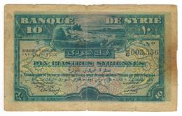 Syria, 10 Piastres 1920 , P-12. VG/F. RARE!!!! - Siria