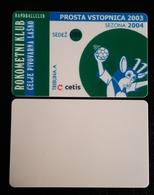 Free Season Ticket Handball Club RK Celje Pivovarna Lasko Slovenia 2003/2004 Plastic Card - Tickets D'entrée