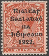 ~~~ Ierland Ireland 1922 - Provisional Overprint  - Mi. 15 I * MH ~~~ - 1922 Governo Provvisorio