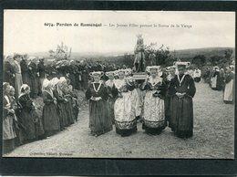 CPA - Pardon De RUMENGOL - Les Jeunes Filles Portant La Statue De La Vierge, Très Animé - Altri Comuni