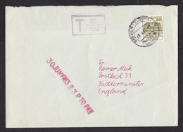 Germany: Cover To UK, 1983, 1 Stamp, Taxed, Postage Due, To Pay, Cancel Cancelled Afterwards Airport (backflap Missing) - Brieven En Documenten