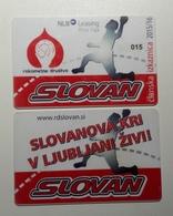 Season Ticket Handball Club RK Slovan Ljubljana Slovenia 2015/2016 Plastic Card - Tickets D'entrée