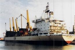 "Photo Couleur Ancienne Originale Bateau C G M "" CGM Kleber "" 1978 Kragere Ex ""Thermoikos ""1992 - Cargos"